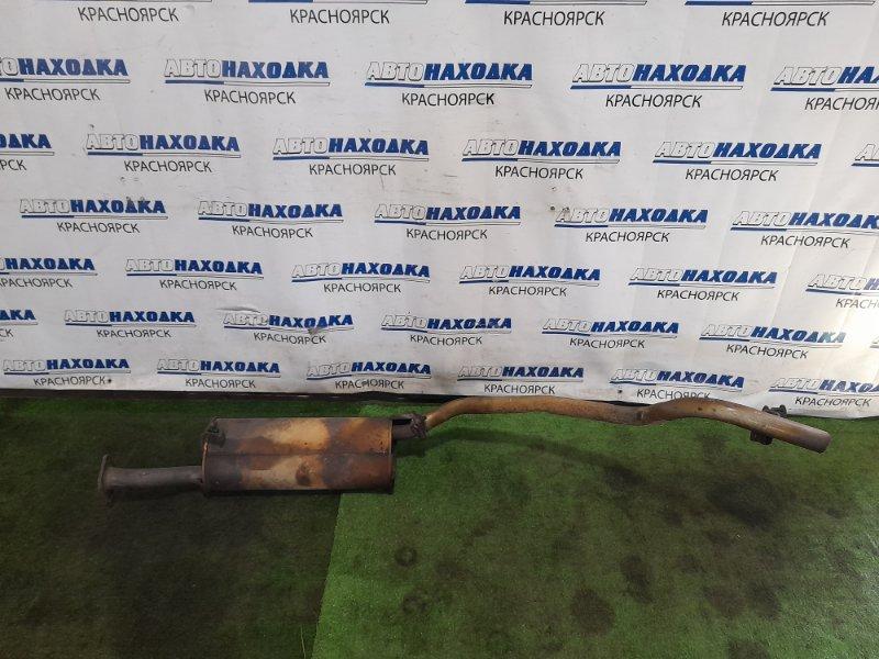 Глушитель Mazda Bongo SK82M F8 1999 задний задняя бочка, с трубой. 4WD