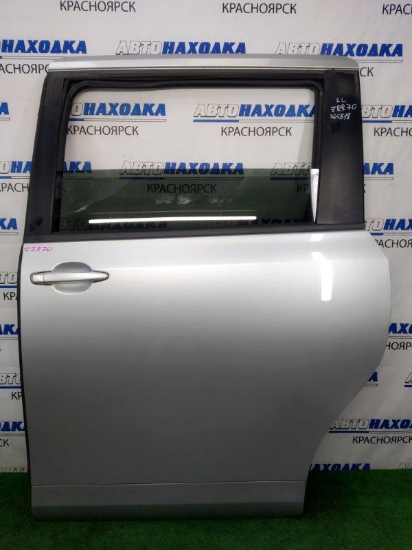 Дверь Toyota Voxy ZRR70G 3ZR-FE 2007 задняя левая ХТС, задняя левая, серебристая (1F7), в сборе, под