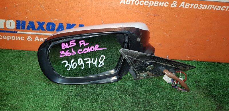 Зеркало Subaru Legacy BL5 EJ20 2006 левое ХТС цвет 36J с поворотником 2мод