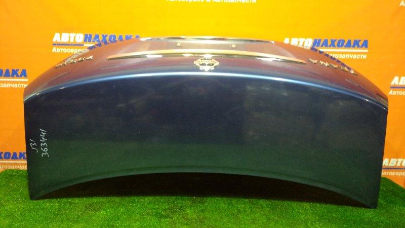 Крышка багажника Nissan Teana J31 VQ23DE 2003 цвет B21 ХТС
