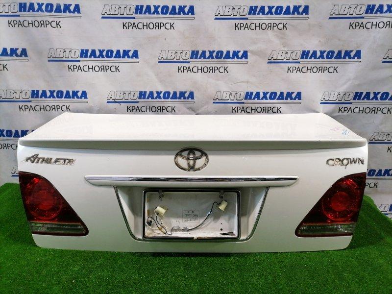 Крышка багажника Toyota Crown GRS182 3GR-FSE 2003 задняя 30-310 В сборе, с спойлером вставками (30-310),