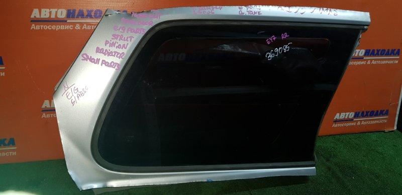Стекло собачника Honda Partner EY7 D15B 1996 заднее правое тонированное