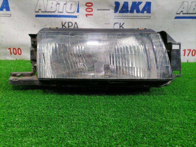 Фара Mazda Familia BG5P B5 1989 передняя правая 110-61301 Правая, 110-61301, седан, есть царапины под