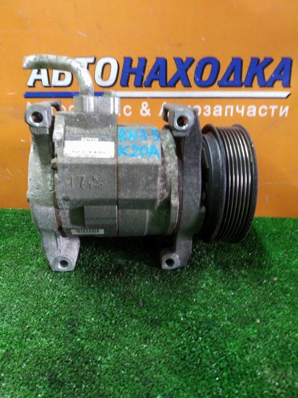 Компрессор кондиционера Honda Stream RN3 K20A 2002 447220-4163