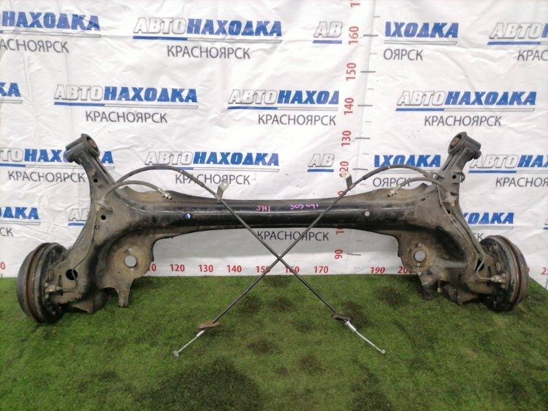 Балка поперечная Honda N-Wgn JH1 S07A 2013 задняя Задняя в сборе. Тросики ручника целые.