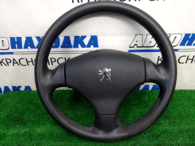 Airbag Peugeot 206 2A/C TU3JP 2003 водительский, с рулем, с подушкой, без заряда, черный,