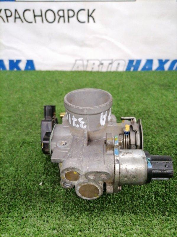 Заслонка дроссельная Honda Life JB5 P07A 2003 механическая, клапан холостого хода 4 контакта,