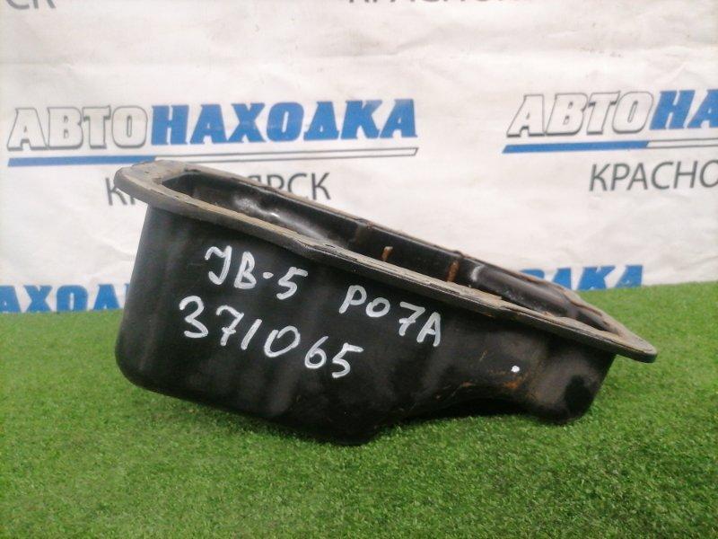 Поддон Honda Life JB5 P07A 2003 нижний с двигателя, железный, с пробкой, ХТС.