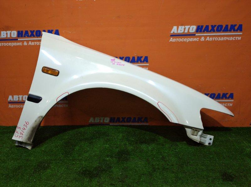 Крыло Honda Accord CF3 F18B 2000 переднее правое цвет NH624P есть следы подкраса +повторитель