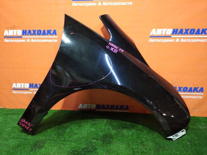 Крыло Mitsubishi Grandis NA4W 4G69 2003 переднее правое цвет X08 есть царапины/есть следы