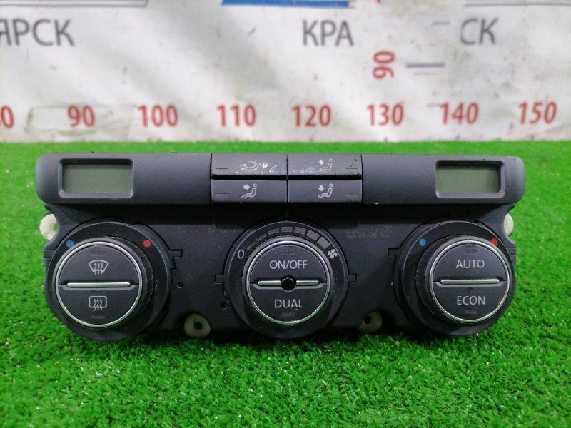 Климат-контроль Volkswagen Jetta 1K2 BVY 2005 Электронный, двухзонный, с фишками