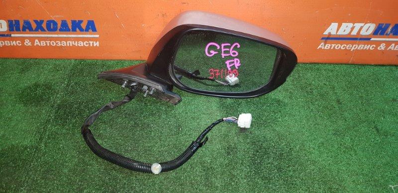 Зеркало Honda Fit GE6 L13A 2007 переднее правое 7 контактов под покраску с повторителем