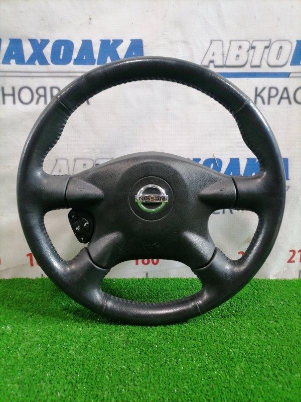 Airbag Nissan Primera QP12 QG18DE 2002 Водительский, с рулём и кнопками, без заряда, кожа
