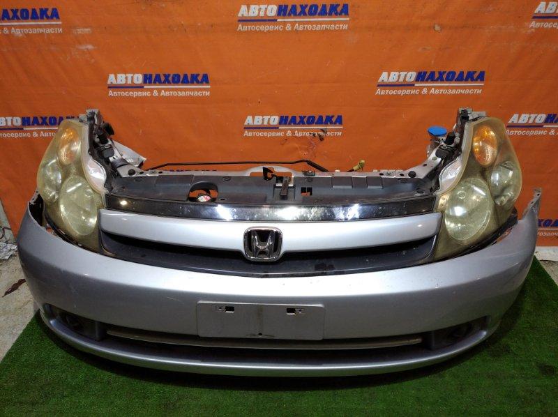 Ноускат Honda Stream RN1 D17A 2003 2 мод в сборе/на бампере есть потертости+фары 2мод ксенон