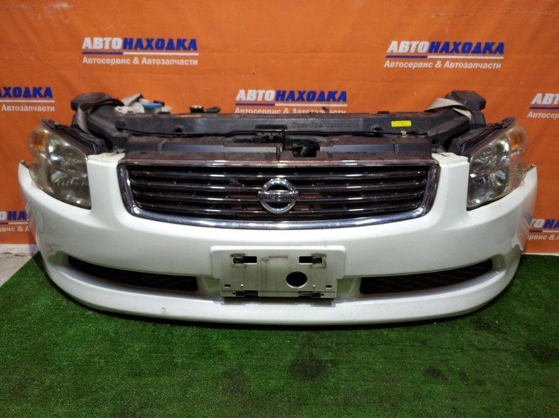 Ноускат Nissan Stagea PM35 VQ35DE 2004 2 мод бампер ХТС+фары ксенон 100-63782+решетка хром+замок