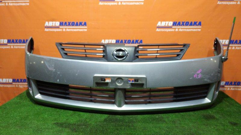 Бампер Nissan Wingroad WFY11 QG18DE 2001 передний 2 мод. цвет KY0 под покраску+решетка +габаритная