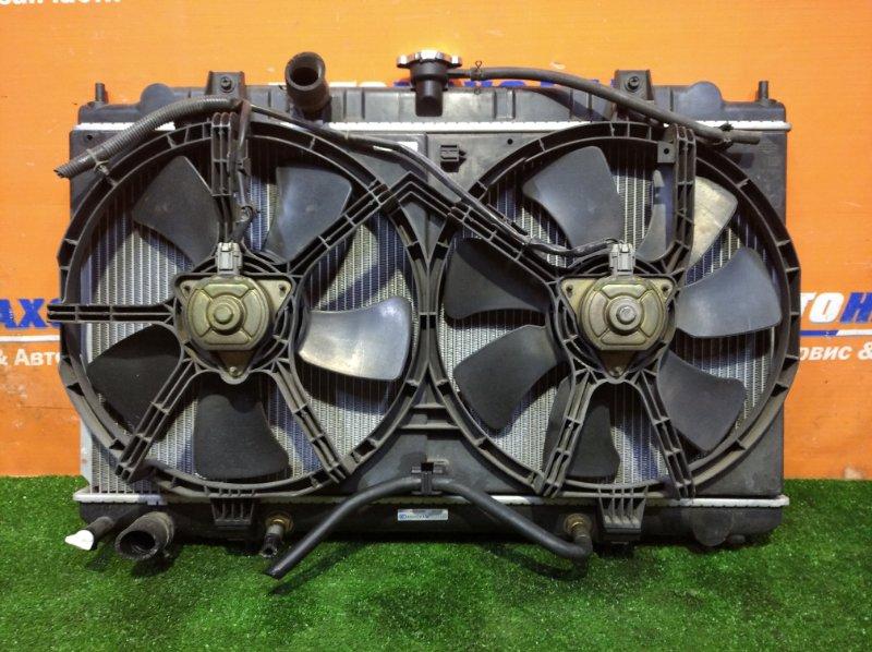 Радиатор двигателя Nissan Wingroad WFY11 QG15DE 1999 а/т 1 диффузор +2 вентилятор