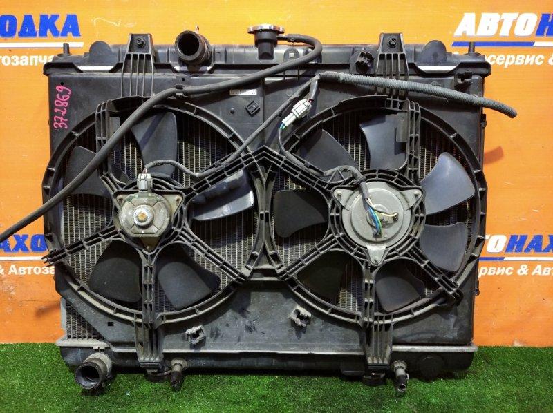 Радиатор двигателя Nissan Liberty RM12 QR20DE 2001 а/т 1 диффузор +2 вентилятор