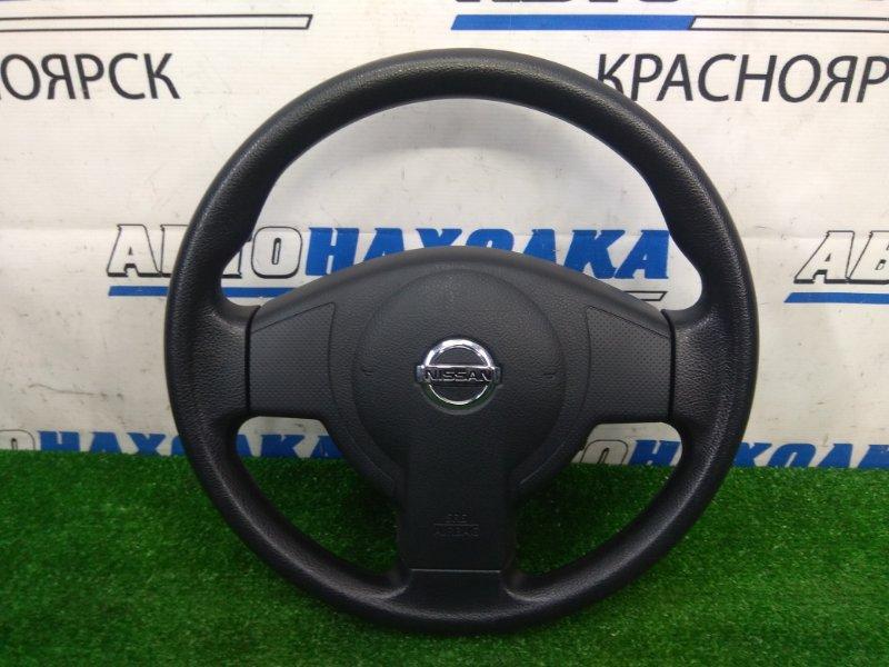 Airbag Nissan Tiida Latio SC11 HR15DE 2008 ХТС, водительский, с рулем, с подушкой, без заряда, черный