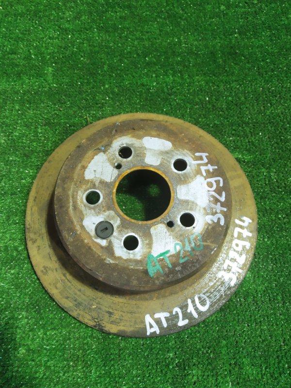 Диск тормозной Toyota Carina AT210 4A-GE 08.1998 задний Ф268, T8, НЕ ВЕНТ