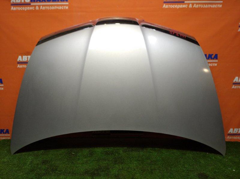 Капот Honda Airwave GJ1 L15A 2005 цвет NH623M ХТС*хром на накладке начинает облезать