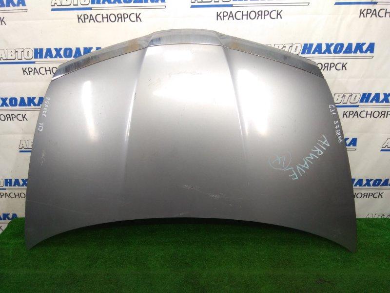 Капот Honda Airwave GJ1 L15A 2005 передний Серый, помутнел хром, есть потертости