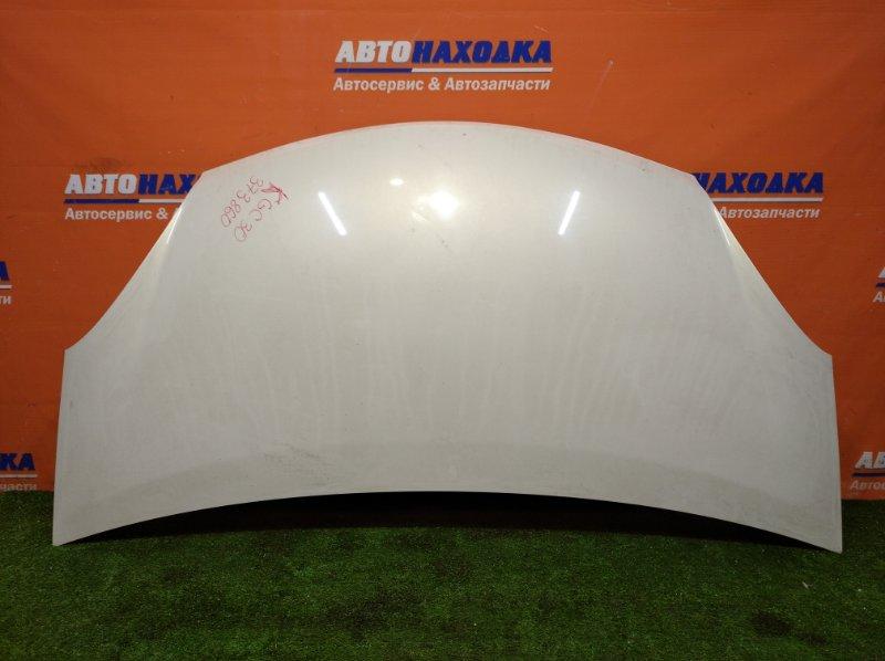 Капот Toyota Passo KGC30 1KR-FE 2010 Цвет W16 есть сколы и потертости