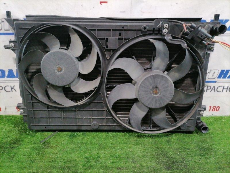 Радиатор двигателя Volkswagen Jetta 1K2 BVY 2005 1K0121251R В сборе, с диффузором, вентиляторами,