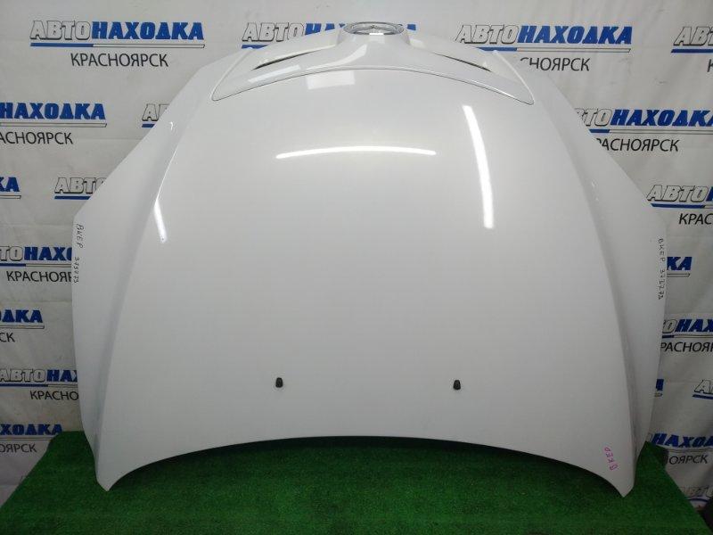 Капот Mazda Axela BKEP LF-VE 2003 передний Белый перламутр, хэтчбек, с решеткой 1 модели, сколы по