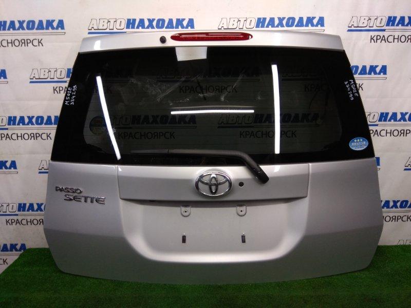 Дверь задняя Toyota Passo Sette M502E 3SZ-VE 2008 задняя ХТС, в сборе, серебристая (1E7), камера з/х,