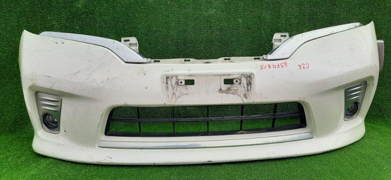 Бампер Nissan Serena C26 передний ДЕФФЕКТ КРЕПЛЕНИЯ ТУМ.061-717