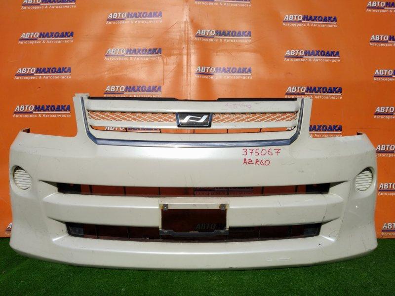 Бампер Toyota Noah AZR60 передний ДЕФФЕКТ КРЕПЕЖА +РЕШЕТА