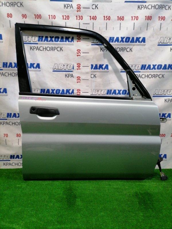 Дверь Mitsubishi Pajero Io H76W 4G93 1998 передняя правая Передняя правая, цвет: A71C, без стекла,