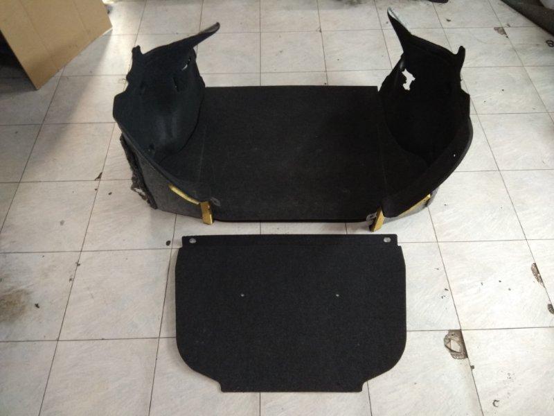 Обшивка багажника Nissan Tiida Latio SC11 HR15DE 2008 комплект - 2 боковушки + коврик+ передняя