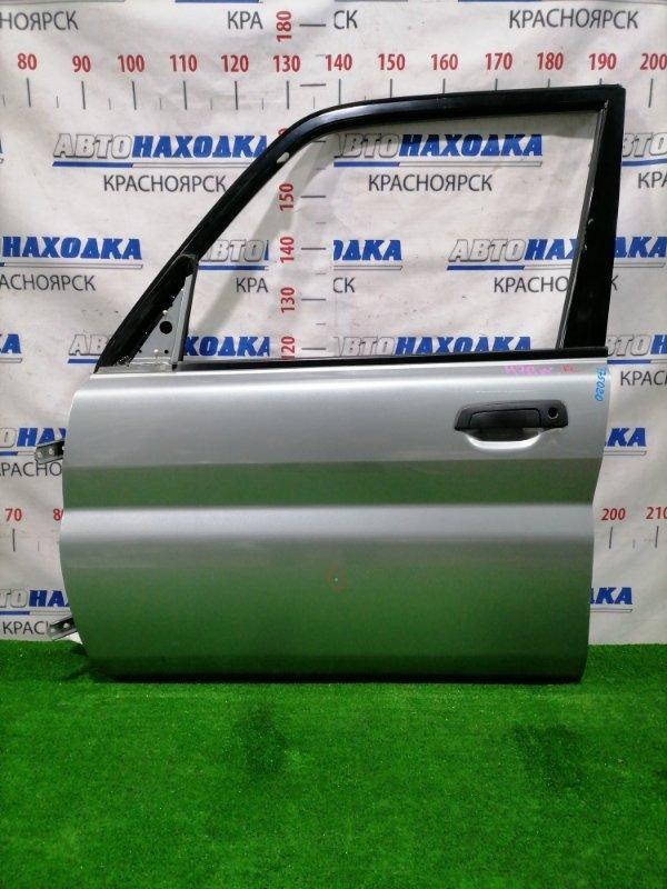 Дверь Mitsubishi Pajero Io H76W 4G93 1998 передняя левая Передняя левая, цвет: A71C, в сборе, есть одна