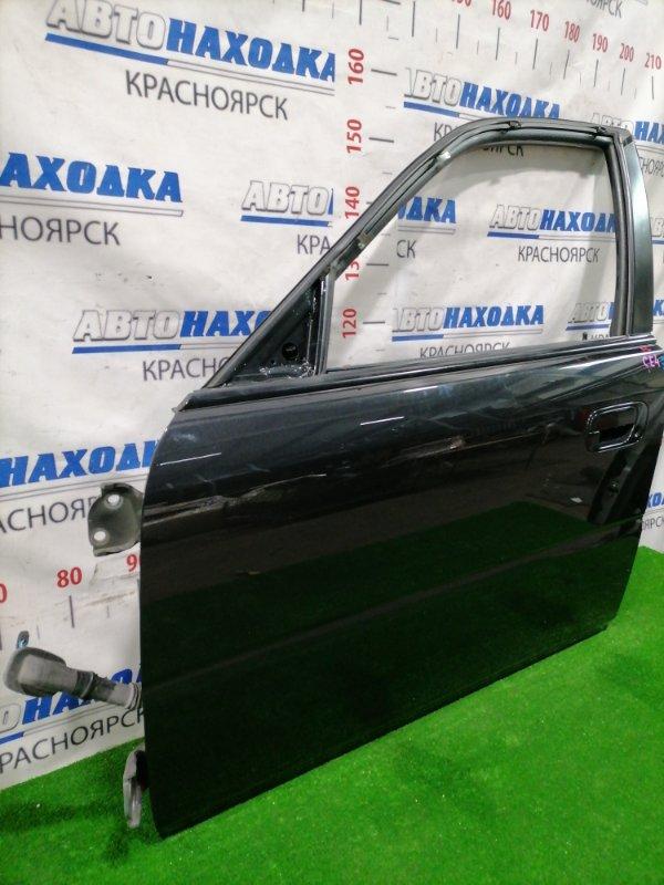 Дверь Honda Rafaga CE4 G20A 1993 передняя левая Передняя левая, цвет: NH561, в сборе, есть царапины -