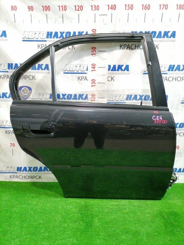Дверь Honda Rafaga CE4 G20A 1993 задняя правая Задняя правая, цвет: NH561, в сборе, есть потертости -