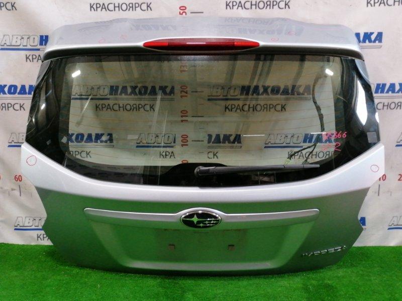 Дверь задняя Subaru Impreza GP2 FB16 2011 задняя В сборе, цвет: G1U, с щеткой, есть залом с дефектом