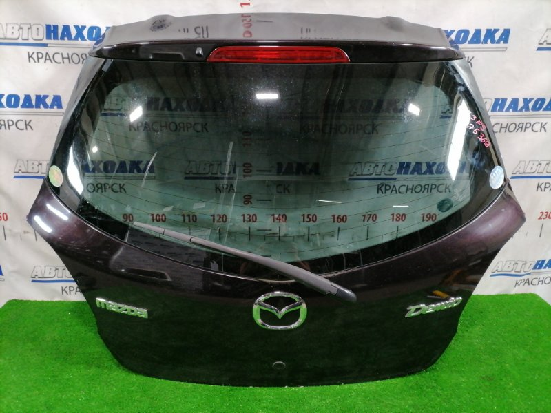 Дверь задняя Mazda Demio DE3FS ZJ-VE 2007 задняя В сборе, цвет: 28W, с щеткой, есть царапинки под
