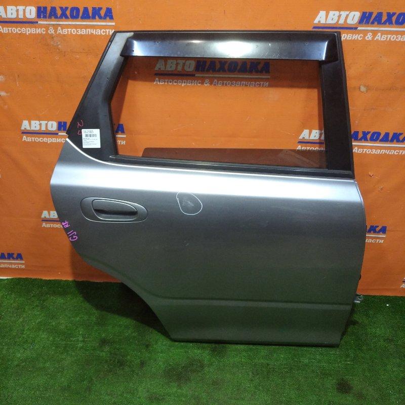 Дверь Honda Airwave GJ1 L15A 2005 задняя правая есть потертости до металла в сборе+ветровик