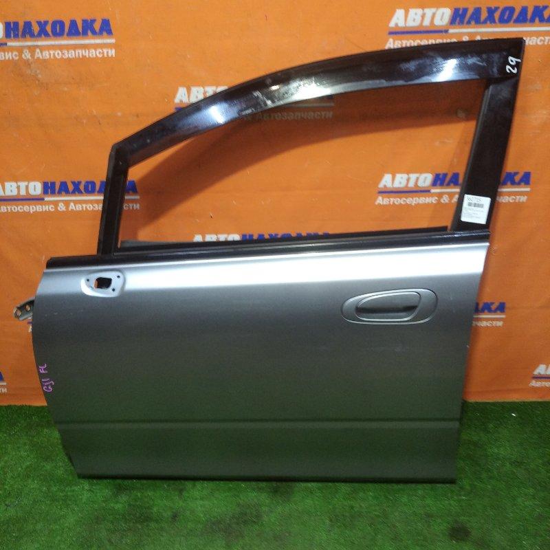 Дверь Honda Airwave GJ1 L15A 2005 передняя левая есть потертости в сборе без зеркала+ветровик