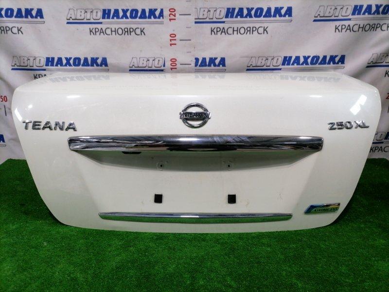 Крышка багажника Nissan Teana J32 VQ25DE 2008 задняя Задняя, цвет: QX1, в сборе, с камерой заднего