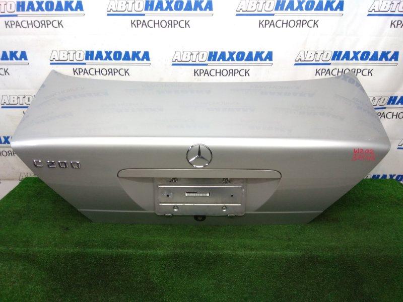 Крышка багажника Mercedes-Benz C200 W202 111.945 1997 задняя в сборе, серебристая (744), под