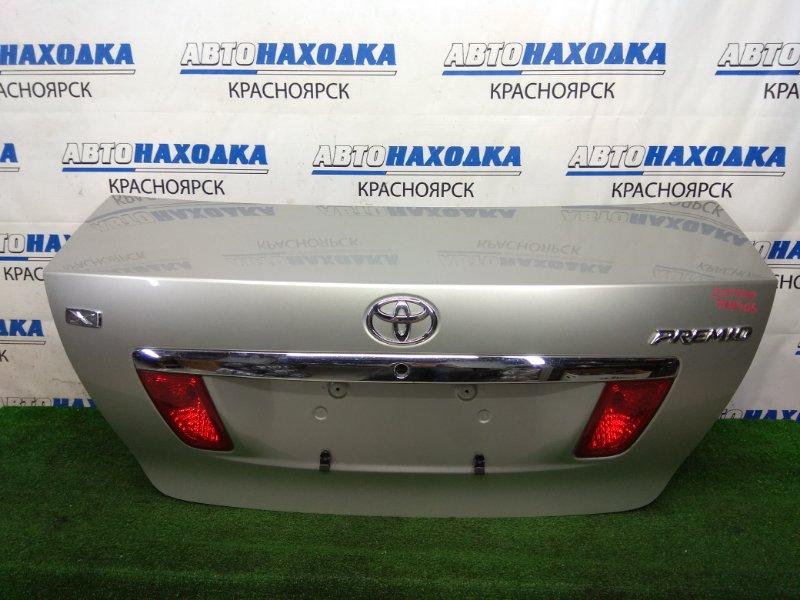 Крышка багажника Toyota Premio ZZT240 1ZZ-FE 2001 задняя в целом ХТС, в сборе, серебристая (1C0), с