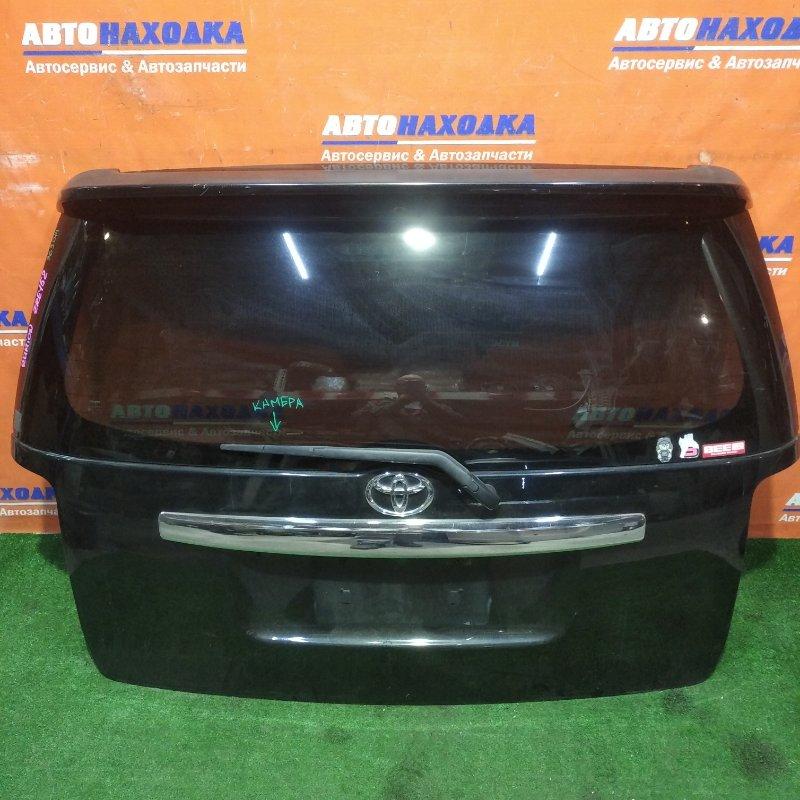 Дверь задняя Toyota Corolla Rumion ZRE152N 2ZR-FAE 2007 в сборе есть потертости+спойлер под