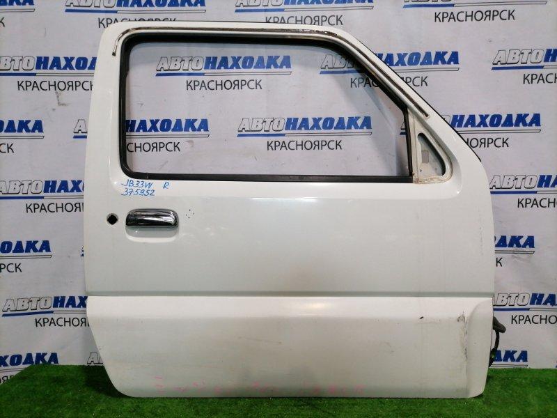 Дверь Suzuki Jimny Wide JB33W G13B 1998 передняя правая Правая, без стекла, стеклоподъемника, блока
