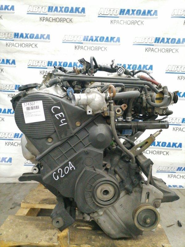 Двигатель Honda Rafaga CE4 G20A 1993 1514420 № 1514420, пробег 73 т.км. С аукционного авто. Есть видео