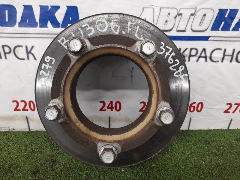 Диск тормозной Toyota Dyna BU306 4B 1999 передний 43512-37080 Передний, диаметр 279 мм, есть небольшая