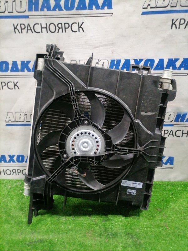 Радиатор двигателя Smart Fortwo W451 M132E10 2006 в сборе с диффузором и вентилятором.
