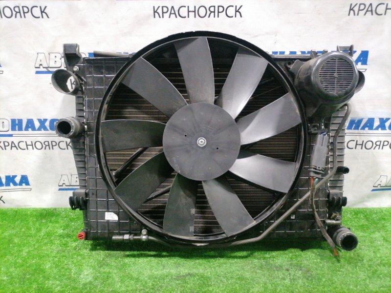 Радиатор двигателя Mercedes-Benz S320 220.065 112.944 1998 в сборе, A/T, с диффузором и вентилятором.